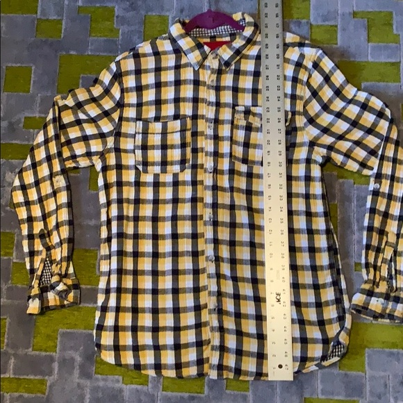 Gramicci Other - NICE GRAMICCI Men's LS sort/thick yellow/blue sqrs